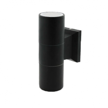 Aplique de pared para Dicroica GU10 Rastaban Negro IP54