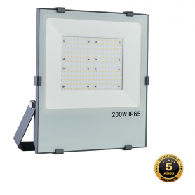 Foco proyector LED SMD GRAFITO 200W APERTURA 120º, Industrialed