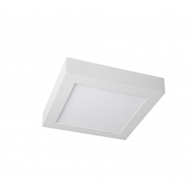 Plafón LED Superficie Cuadrado 20W 225x225mm