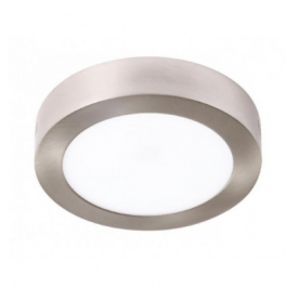 Plafón LED Superficie circular NIQUEL 24W Ø300mm