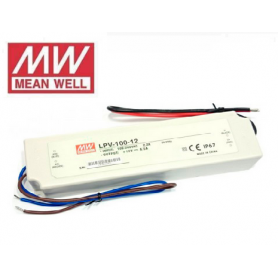 Fuente de alimentación para tiras LED Mean Well 100W 12VDC IP67