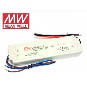 Fuente de alimentación para tiras LED Mean Well 150W 12VDC IP67