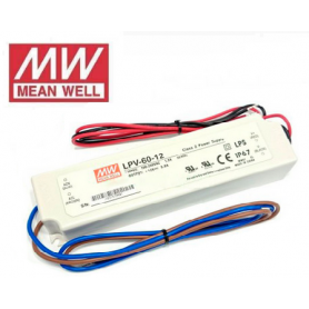 Fuente de alimentación para tiras LED Mean Well 60W 24VDC IP67