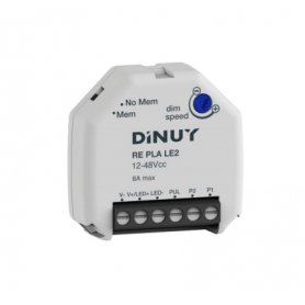 Dimmer Regulador DINUY RE PLA LE2 para tiras led de 12V-48V