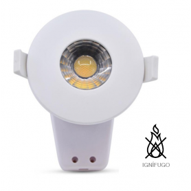 Foco downlight LED Cob Ignífugo 8W Ø85mm